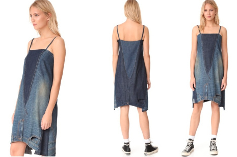 Upside Down Jeans Dress