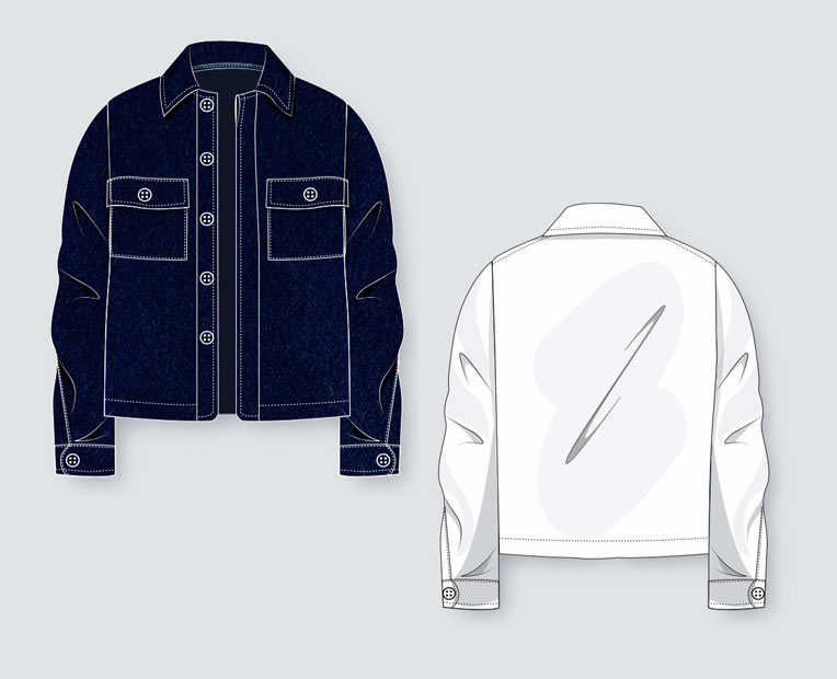Menswear Jacket Techpack