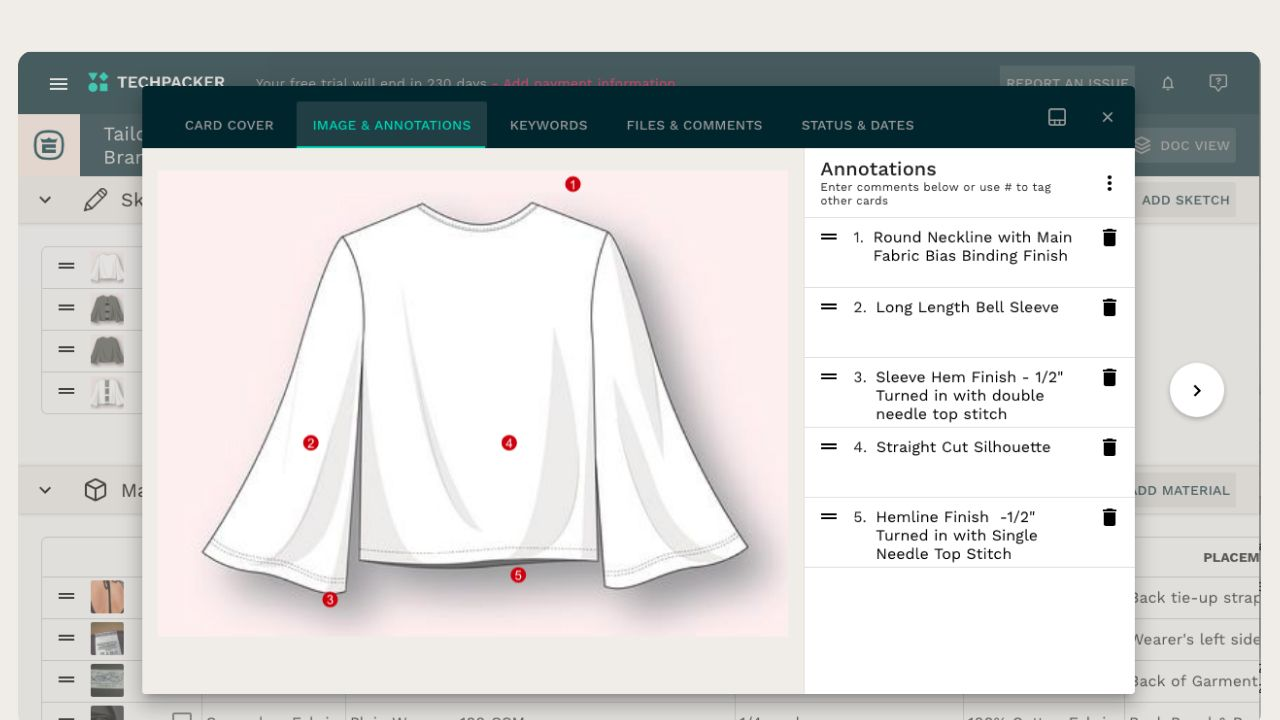 Bell sleeve top measurements