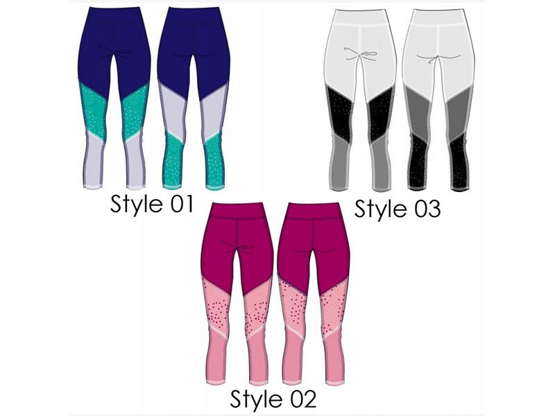 2D sketches of Leggings