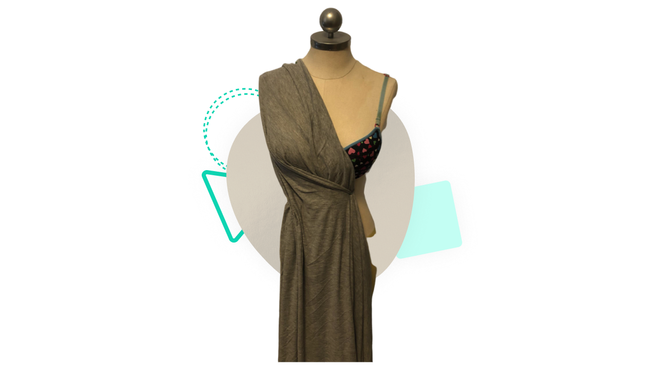 Mannequin with fabric draped on it