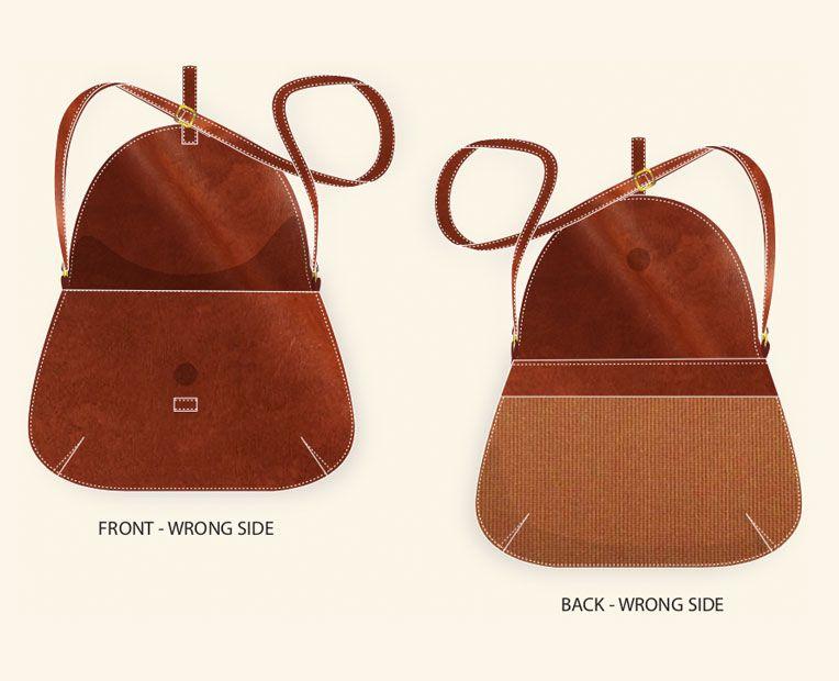 Leather Handbag tech pack example